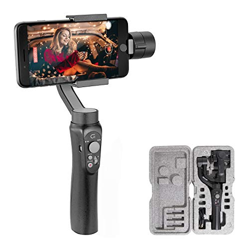 3-Axis Gimbal-Stabilizer-for-Smartphone, Powered by ZHIYUN-Gimbal for iPhone-Android Video Recording ,Dolly Zoom, Timelapse, Panorama, CINEPEER C11
