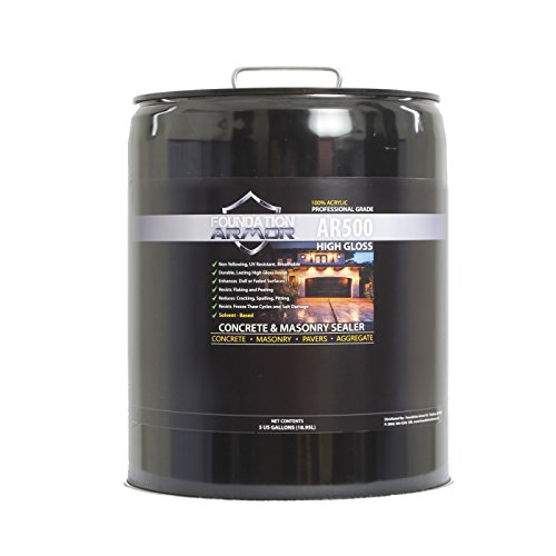 5 GAL Armor AR500 High Gloss Solvent Based Acrylic Concrete Sealer and Paver Sealer