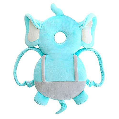 Cojín protector de cabeza de bebé bebé mochila desgaste almohadilla de seguridad forma de elefante cojín de cabeza ajustable
