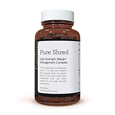 Pure Shred x 180 Tablets (5 Leading Weight Management Ingredients - 1000mg per Tablet - 6 Month Supply! SKU: PSHRED3