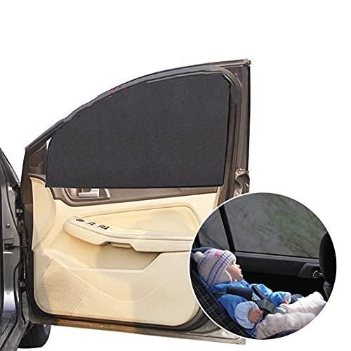 JIRENSH Parasol para coche, juego de 5 piezas, parasol universal para coche, parasol para ventana de coche, parasol para coche, parasol para coche, color negro translúcido