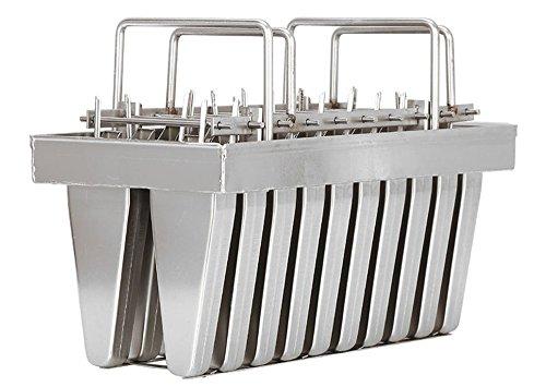 20pcs Stainless Steel Molds for Popsicles Maker Ice Lolly Ice Cream Pops Bars Stick Holder (C)