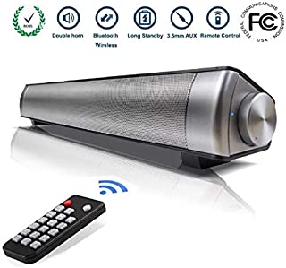 for Laptop for Computer for Home Theater TV Speaker Stereo with Remote Control Soundbar Ginyia Wireless Bluetooth Speaker