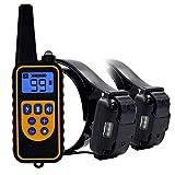 Top-Newest Collare per addestramento del Cane, Collare per Cane Vibrante con Telecomando Vibrazione/Beep Collare per abbaiare Cane, Impermeabile e 500 Iarde, per 2 Cane