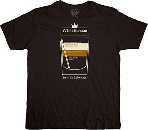 El gran Lebowski de color blanco ruso negro T-camiseta de manga corta camiseta para hombre