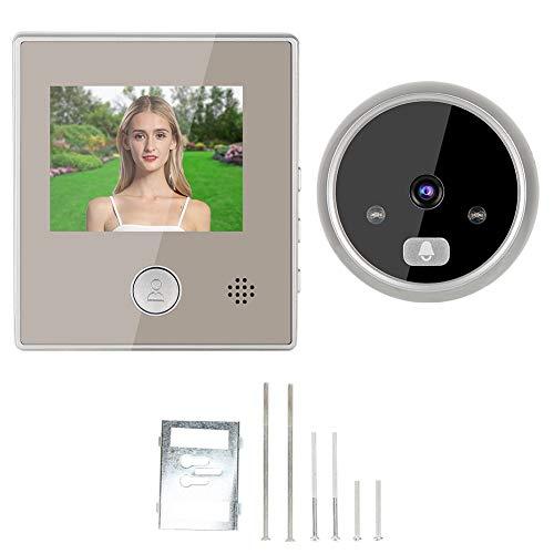 Cámara con timbre de video, videoportero de seguridad práctico, pantalla LCD de 3 pulgadas, intercomunicador de visión nocturna por infrarrojos, puerta de entrada, villa, apartamento para