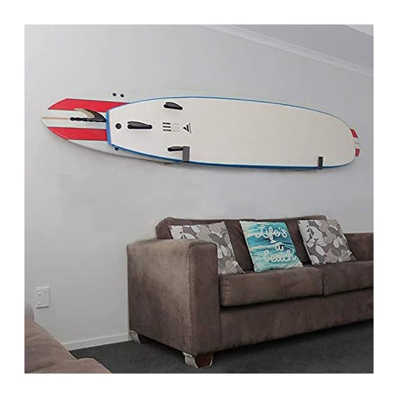 Bps paddleboard/sup wall rack, minimalist display for indoors and outdoors, rust resistant w/soft padding protection 4 the company - helping everyone to 'get out and do' is the reason barrel point surf exists. Created by a kiwi surfer and caring dad who loves helping others get out onto and into the water, we're a mom & pop business that began with us building surfboards in our garage. Now we are all about helping make water sports accessible, wherever you are in the world. Say yes to barrels, not barriers. The product- our bps minimalist board wall racks are what you need! Strongly designed and can hold two boards at once. These can hold one sup and either a longboard or a shortboard; or two short-boards / two long-boards / one short-board and one long-board. You can store your paddle as well if you'll put one board only. More about the product - it is built with super soft padding that will ll always protect your sup's rails. These are constructed with marine-grade aluminum, making these racks free from rusting. Available in two colors- midnight black and ocean grey.