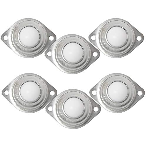 6 × Ruedas - Ruedas EsféRicas La RotacióN Universal De Los Rodamientos De 360 ° Es Flexible para Los Sistemas De AlimentacióN del Sistema De TransmisióN.