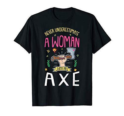 Vintage Wikinger Nordische Mythologie Axtwerfen Geschenk T-Shirt