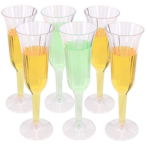 Benail Lot de 60 flûtes à champagne en plastique transparent 16 cl Pour mariages cocktails soirées fêtes