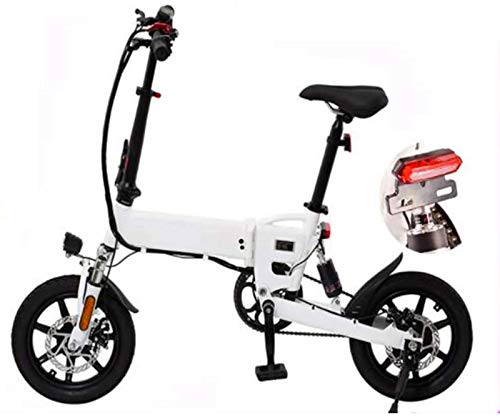 Bicicleta de nieve eléctrica, bicicletas eléctricas plegables, bicicleta plegable de aleación de aluminio, bicicleta plegable de 36 V 7,8 Ah con batería de litio oculta HD para adultos