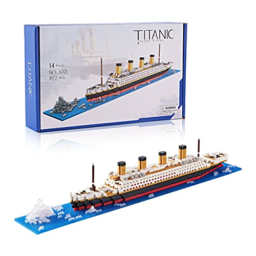 YUJNS Titanic Toy Model Kit for Adults and Kids Micro Blocks 1872 Pcs with Color Package(2021 New)