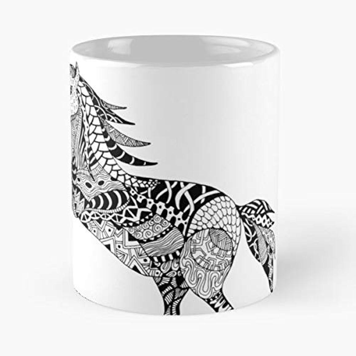 Vector Mustang Horse - Ceramic Mugs