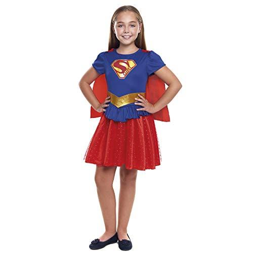 Disfraz Superheroína Niña con Capa Girl Super【Tallas Infantiles de 3 a 12 años】[Talla 7-9 años] | Disfraces Niñas Superhéroes Carnaval Halloween Regalos Niños Cosplay Cómics