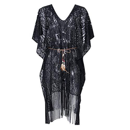 Vectry Blusas De Playa Mujer Cardigan De Mujer Kimono Mujer Sexy Pareo Mujer Verano Camiseta Chica Verano Blusas De Mujer De Moda 2019 Elegantes Negro