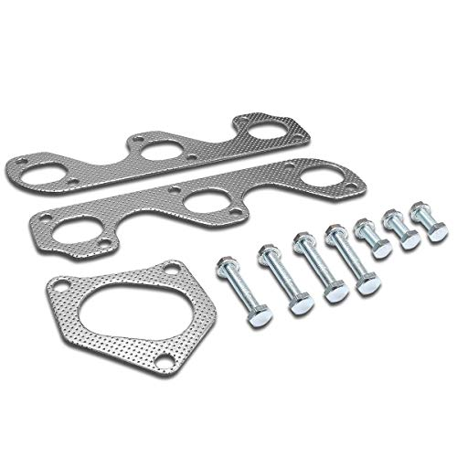 Aluminum Exhaust Manifold Header Gasket Set Compatible with 90-94 Ford...