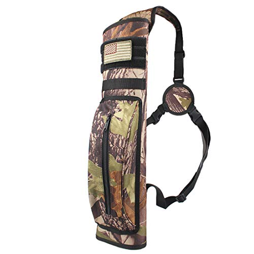 KRATARC Archery Multi-Function Back Arrow Quiver Shoulder Hanged Target Shooting Quiver for Arrows (Camo (for Right-Handed))