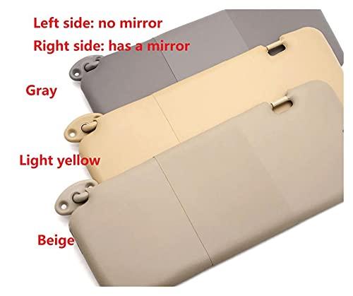 PUGONGYING Popular 3 Colores Sun Visor Assy.con Mirror Fit para Chery Chery Tiggo SUV 2005-2012 Auto Coche Partes T11-8204020 Durable (Color : Light Yellow Left)