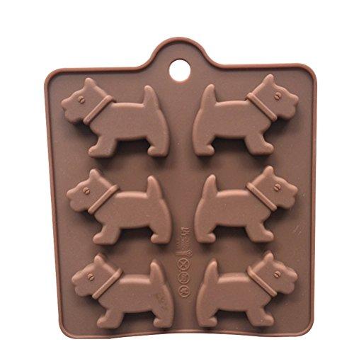 OUNONA Hund Schokoladenformen Backform f¨¹r Seife Kuchen Schokolade