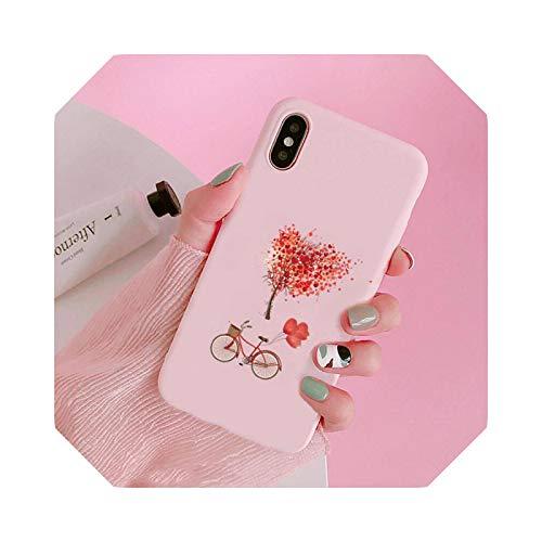 Fashion Love Heart - Carcasa para iPhone 6, 7, 8, 11, 12 s, Mini Pro X, XS y XR Max Plus-A5-para iPhone 6
