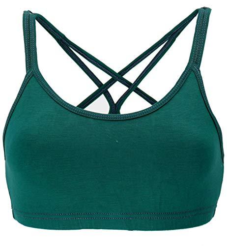 Guru-Shop Goa Psytrance Bikini Top, Boho Top, Yoga Bra, Yogatop, Damen, Petrol, Synthetisch, Size:S/M (36), Tops & T-Shirts Alternative Bekleidung