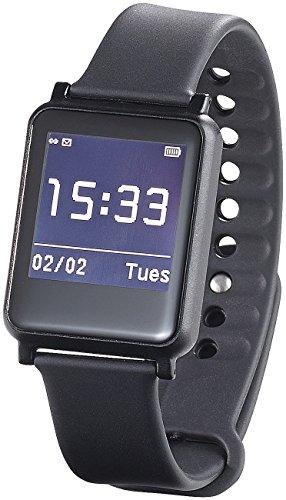 simvalley MOBILE Bluetooth-4.0-Smartwatch SW-200.hr, Fitness, Puls, Benachrichtigungen