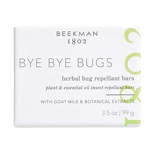Beekman 1802 - Bye Bye Bugs Herbal Bug Repellant Bars - Goat Milk-Based Bar Soap with Citronella - Cruelty-Free Bodycare - 3.5 oz