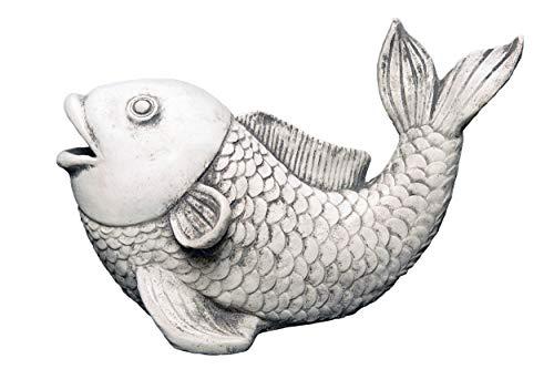 gartendekoparadies.de Massive Steinfigur Soragoi Koi Fisch Steinkoi Steinguss frostfest
