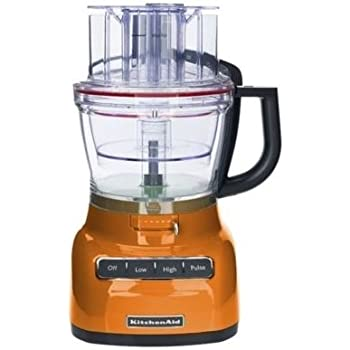 KitchenAid 13-cup Food Processor, KFP1333 Slicing Thickness Control System (Tangerine)