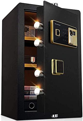 YANJ Caja de Seguridad Caja Fuerte de Seguridad Digital electrónica, Caja Fuerte biométrica de Acero para el hogar con Huellas Dactilares, 36X32X58Cm, Pantalla LED, Caja Fuerte de Acer