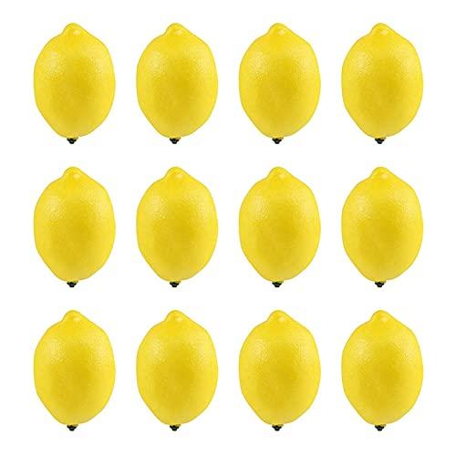 Fruta de simulación 12 unids/Set simulación Fallo de limón Frutas Artificiales Verduras Artificiales Modelo de Fruta Casa Cocina Partido Decoración del hogar Decoración Fruta Decorativa Hermosa Deco