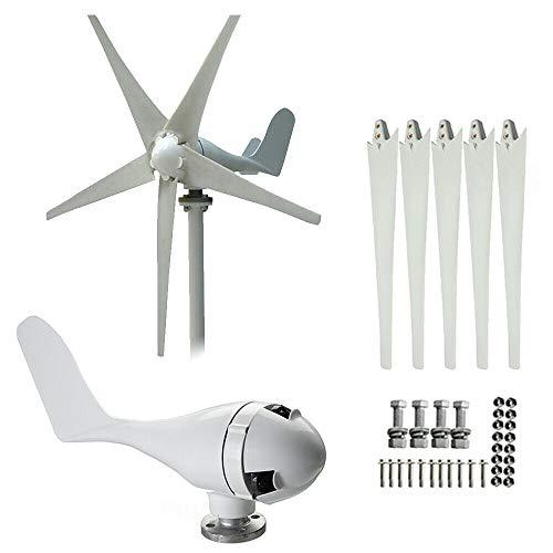 400W DC 24V Aerogenerador Turbina de viento Generador de turbina eólica con 5 aspas de rotor +...