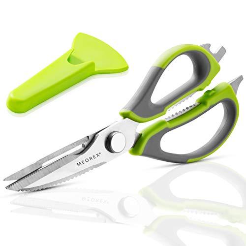 Kitchen Scissors Heavy Duty - Multipurpose Utility Stainless-Steel Detachable Dishwasher Safe Cooking Shears for Poultry Chicken Meat, Fish, Vegetables,Bones, Herbs - Peeler & Bottle Opener