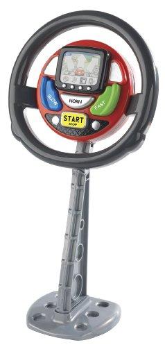 CASDON Sat Nav Steering Wheel , Black/Red/Grey