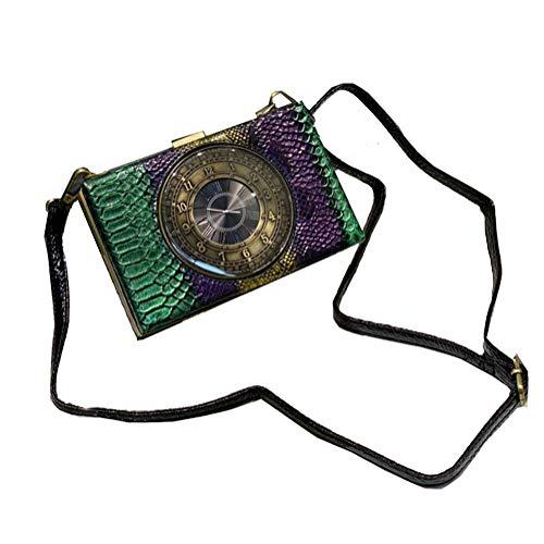 Real reloj de trabajo bolsas de hombro creativo cocodrilo patrón pequeña bolsa mujer diagonal pequeñas bolsas reloj real monedero y bolsos mujer steampunk estilo bolso