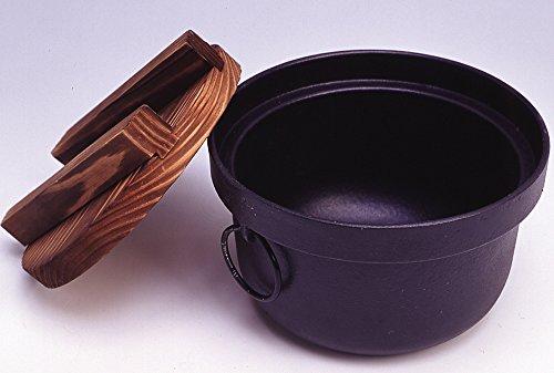 池永鉄工 ご飯鍋 3合炊 IH対応 日本製 炊飯 ブラック 312714