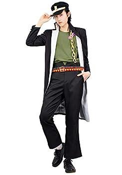 C-ZOFEK JoJo s Jotaro Kujo Cosplay Costume  X-Large  Black