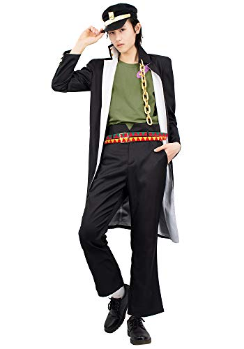 C-ZOFEK JoJo's Jotaro Kujo Cosplay Costume (X-Large) Black
