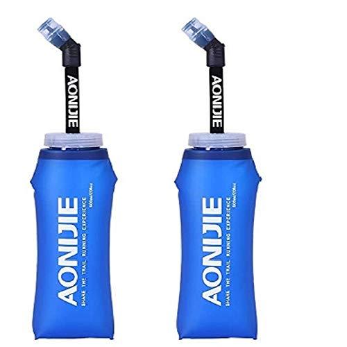 Termo de agua de TPU suave, libre de BAP, plegable, 350/600 ml, para mochila de hidratación, conveniente para correr, ciclismo