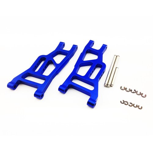 Stampede 1:10 Aluminum Alloy Front Lower Arm Hop Up Upgrade, Blue by Atomik RC - Replaces Part 3631