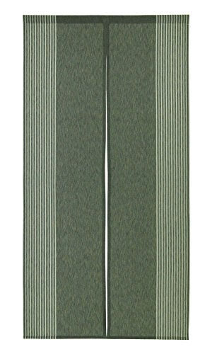 Narumi Vertical Stripe Cotton Cloth Japanese Noren Curtain Tapestry (Dark Green)