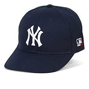 """Outdoor Cap Adult New York Yankees Replica Hat Home Navy Blue Adult Size (6 7/8 - 7 1/2"""") Ages 12 & Up Adjustable Velcro Fit Embroidered """"NY"""" Authentic Logo Major League Officially Licensed Baseball Hat"""