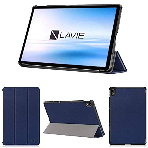 wisers 保護フィルム付き LAVIE T11 T1195/BAS PC-T1195BAS ケース カバー 11.5インチ NEC 超薄型 スリム 専用 タブレットケース [2021 年 新型] ダークブルー