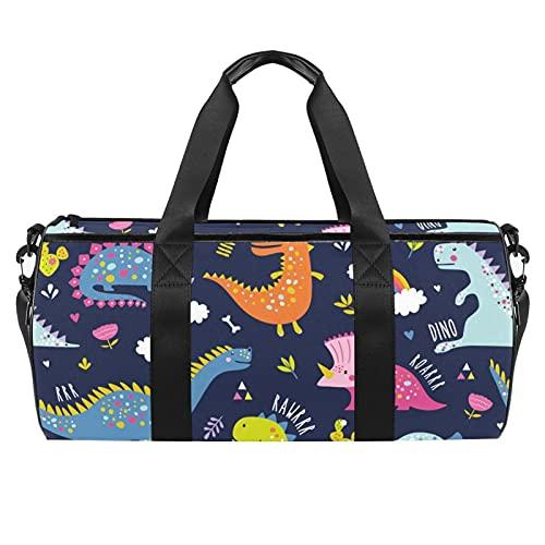 Bolsa de lona de 45,7 cm, bolsas de playa deportivas extra grandes con correa de hombro ajustable, color azul amarillo limón, Multi07, 45x23x23cm/17.7x9x9in,