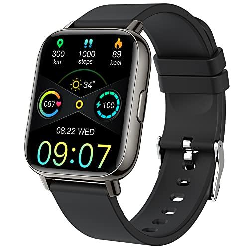 Smartwatch, Fitness Tracker 1.69-Zoll TFT-Display Fitness Armbanduhr mit Pulsuhr Schlafmonitor, Sportuhr Schrittzähler Uhr, Stoppuhr IP68 Wasserdicht für Damen Herren Smart Watch für iOS und Android