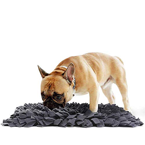 BVAGSS Haustier Interaktiv Spielzeug Riechen Trainierung Schnüffelteppich Spielen Matte Toy Nase Arbeit für Hunde Katzen XH051 (Black)