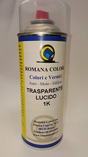 ROMANA COLORI Trasparente 1K Lucido per CARROZZERIA Vernice RITOCCO Spray Auto