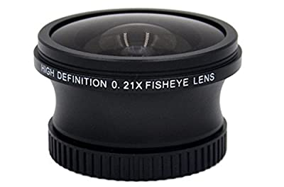 0.21x High Definition Fish-Eye Lens (37mm) for Sony HDR-CX455 by Hila