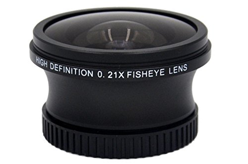 Sony HXR-MC2500 0.21x High Grade Fish-Eye Lens (180° Diagonal Angle of View) + Nw Direct Micro Fiber Cleaning Cloth