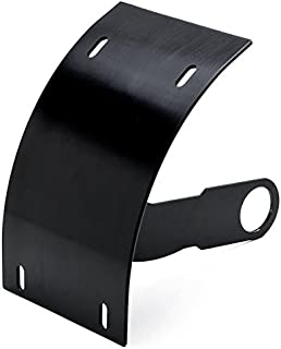 Krator SMI5050 Light (Motorcycle Curved Vertical Mount License Plate Holder Black Billet Tag 1